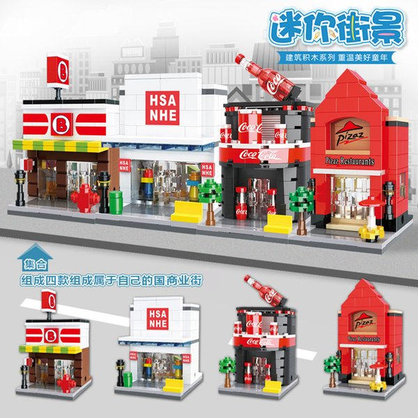 City Mini Street Series Building Blocks Aquarium Ocean World Casino Bowling Alley Dinosaur Park Legoingly Bricks Model Toys For Children