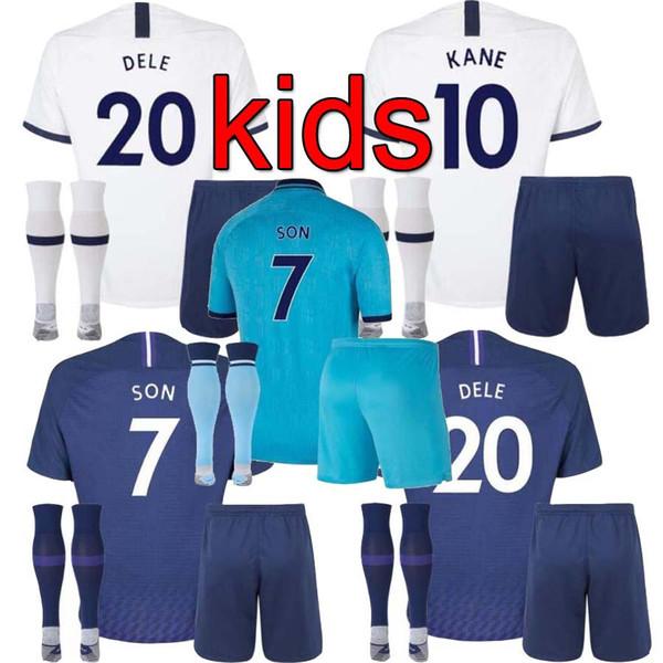 Kids Kit 19 20 Tottenhame Soccer Jersey Kane 2019 2020 Spurs Kids Soccer Jerseys Lamela Eriksen Dele Son Away Child Football Shirt Black Yellow Buy At The Price Of 16 86 In Dhgate Com Imall Com