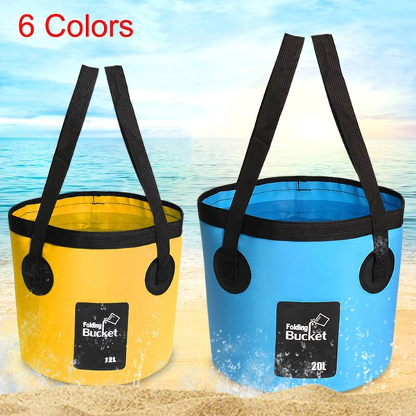 12L Fishing Bucket Folding Waterpot Buckets Water Barrel Box Outdoor Sports Lightweight Portable For Camping Hiking Fishing Tackle M238Y