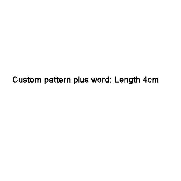 Пользовательский логотип Длина 4CM