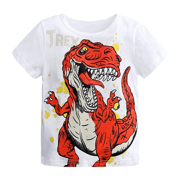 Toddler Baby 0-6Years T-Shirt Clothes Cartoon Dinosaur Print Baby Boys Shorts T Shirt For Summer Kids Boys Short Sleeve #BL2
