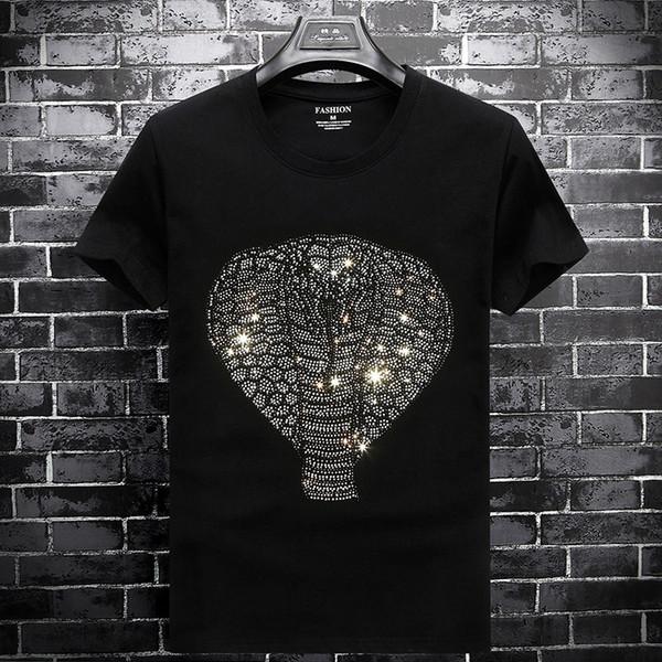 Diseñador de verano para hombre Venta Caliente de Alta calidad de algodón T Shirt Casual Medusa Delgada de Los Hombres T camisa de moda de manga corta camiseta S-6XL AA1