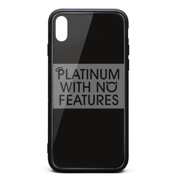 IPhone X Case,iPhone XS Case J. Cole Platinum With No Features 9H Tempered Glass Back TPU Bumper Shock Absorption Phone Case
