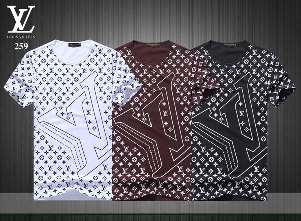 Novo Design de Moda dos homens Carta de Impressão T-shirts # 5519 de Manga Curta de Alta Qualidade O-pescoço Tops Tees Marca de Verão Masculino de Algodão Ocasional T camisa