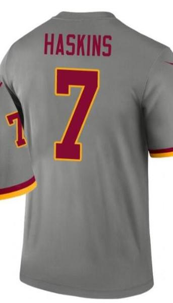 Hombres Washington 21 7 camisas Jersey masculino bordado y cosido 100% invertido 2.020 leyenda Jersey de la versión del jersey del fútbol