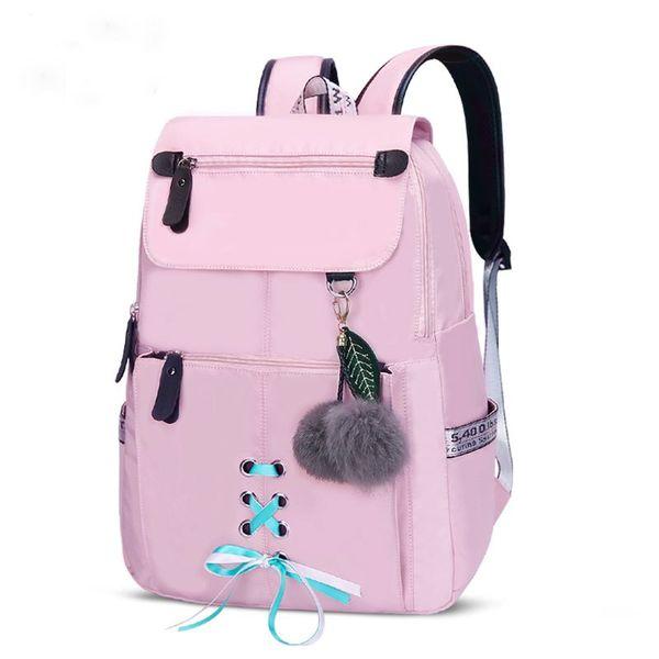 57961f1e303f New 2019 Fashion School Backpack For Girls College School Bags Women  Shoulder Bag Fur Ball Bowknot Backpacks For Teenage Girls Best Laptop  Backpack ...