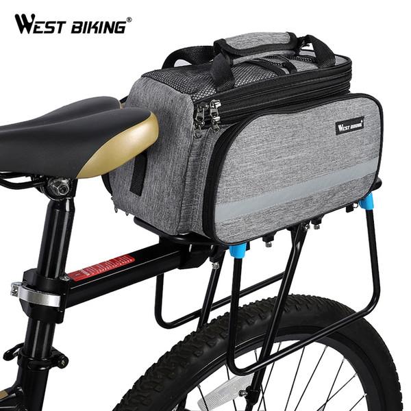 WEST RADFAHREN Fahrradtasche Fahrradkoffer Gepäckträger Korb Mountain Road Fahrradsattel Handtasche Gepäckträger Koffer Gepäcktaschen # 24683
