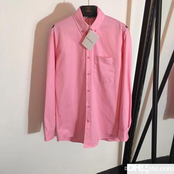3aa7ead09b0d Compre Camisa Rosa De Manga Larga Blusas Para Mujer Estampado Camisa Larga  Suelta Camisa Tipo Cardigan Con Un Solo Pecho A $50.43 Del Apparel_lingke |  ...