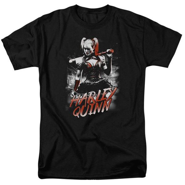 Harley Quinn with Baseball Bat DC Comics T Shirt & Stickers