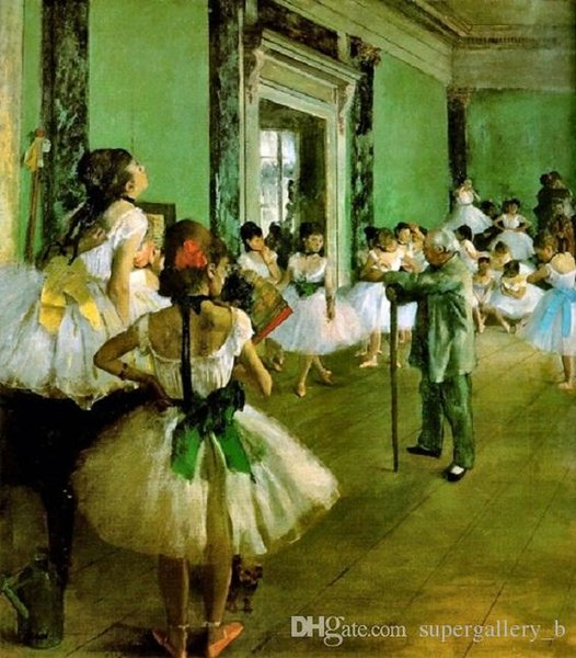 Ballet Dance Class by Edgar Degas Handcrafts /HD Print portrait Art Oil painting On High Quality canvas,Multi sizes /Frame Options p213