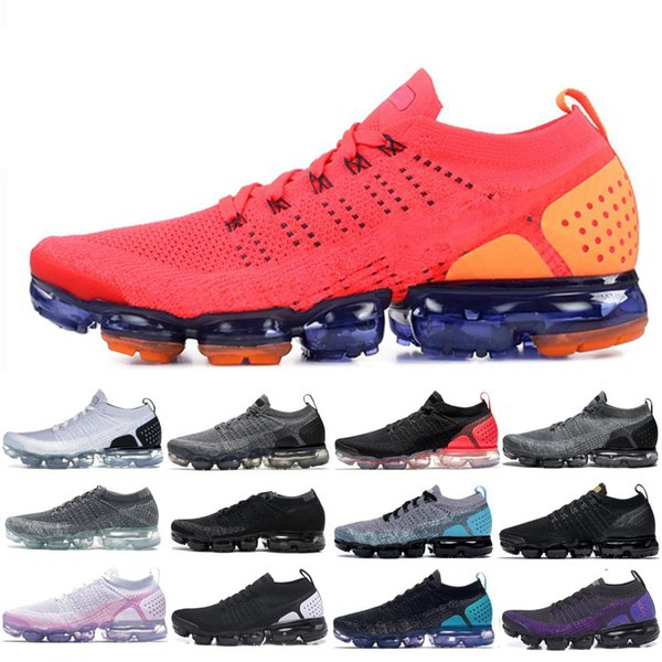 High-quality 2019 TN Running Shoes Mens New Fly1.0 2.0 3.0 Knit Triple Black White Designers Shoes Be True Mesh Sneakers 36-45 WOC3