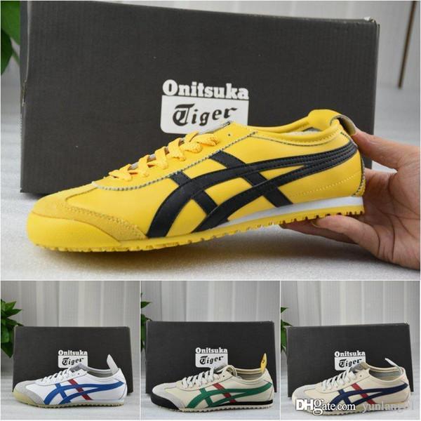 asics Onitsuka tiger Tiger 2016 Nuevo estilo zapatos planos para hombre y para mujer de cuero cómodo Zapatillas Athletic deporte al aire libre zapatillas de deporte Eur 36-44