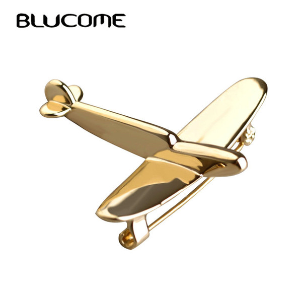ashion Jewelry Brooches Blucome Simple Airplane Model Brooches For Women Men Metal Wild Brooch Fighter Aircraft Hijab Pin Jewelry Kids Bo...