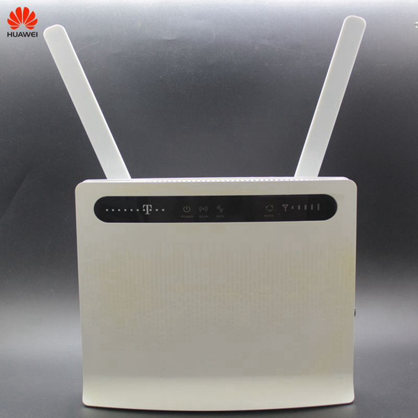 Unlocked Used Huawei Wireless Router B593 B593s-12 B593u-12 with Antenna 4G LTE WiFi Hotspot Router with SIM Card PKB310