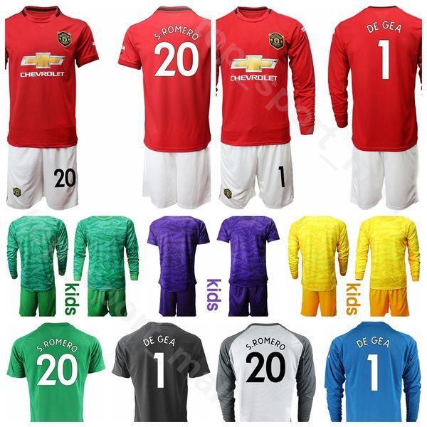 reputable site 6e79e 75d80 2019 Youth Man United Long Goalkeeper GK Goalie Soccer ALEXIS Jersey Set  Kids Socks MATA YOUNG VALENCIA DE GEA GOALIE Football Shirt Kits Uniform  From ...