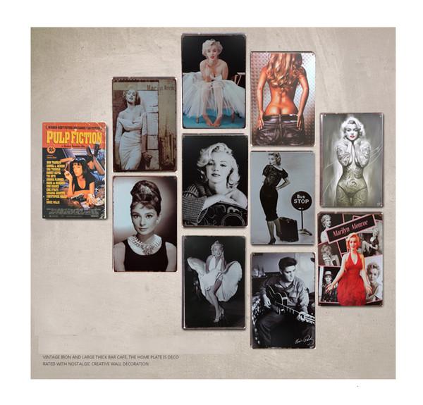 Pop stars movie figures painting vintage tin Signs Bar Pub Home Wall Decor Retro Metal Art Poster Metal Plate Plaques decor art SH190918