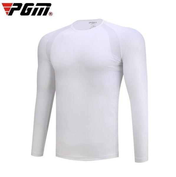 PGM Men Long Sleeve Sunscreen Clothing Golf T-Shirt Quick-Dry Breathable Bottoming Shirt Summer Men Golf Wear 3 Style Neck