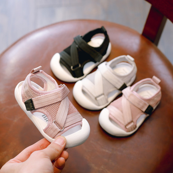 Children Kid Shoes Baby Boy Girl Slip On Toe Summer Beach Sandals Shoes Sneakers