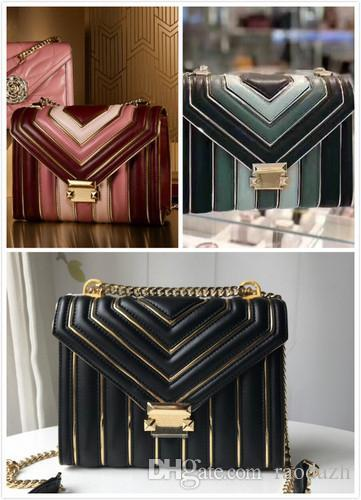 2019 Star with the limited edition package Quilted Leather Outlined Top Handle Satchel (Black/Gold) Luxury Handbags For Women Bags Designe