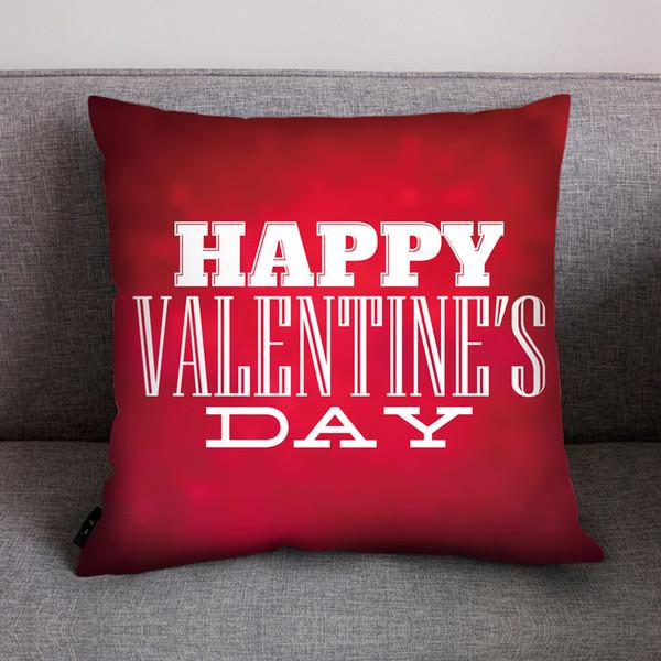 HSU Vente Chaude Coussins Imprimé Coeur Rouge Coussin D'AMOUR Heureux Valentine Couple Maison Canapé Chaise Décoration cojines decorativos para