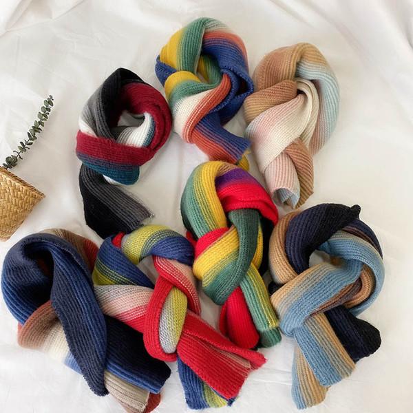 2020 arcobaleno bambini morbida sciarpa bambini Sciarpa Ragazzi Sciarpe ragazze sciarpa Bambini Sciarpe accessori invernali A9894