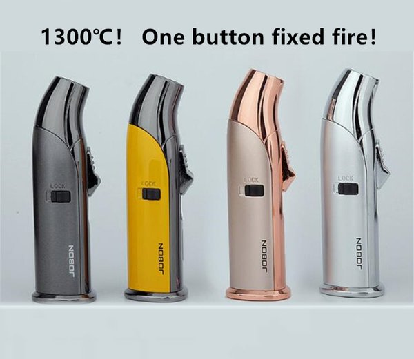 JOBON 1300° Butane jet flame torch lighter Refillable Micro Culinary lighter cigar igniter Windproof Inflatable lighters