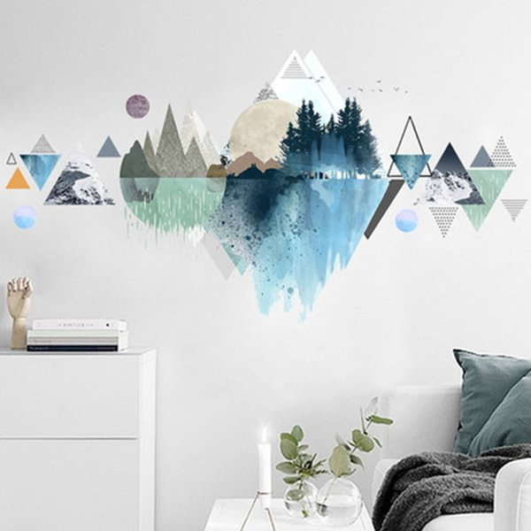 Castle Building Reflection in Water European Style Wall Stickers Home Decor Living Room Bedroom Background Wall Mural Poster Art