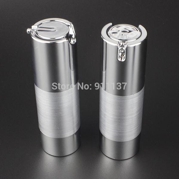 Envase de la bomba sin aire 30 ml astilla 30 ml para cosmético, botella de plástico de 30 ml con bomba, botella redonda de plástico de 30 ml con dispensador
