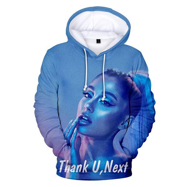 Frdun 3D-Ariana Grande Hoodies Sweatshirt Cool Fashion 2018 New Hip Hop Casual Cool New Style Fashion Clothes Plus Size