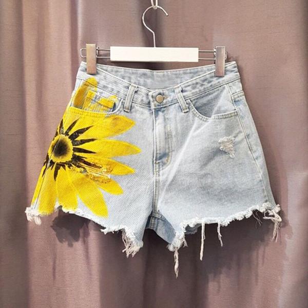 MAPUSITOM High Waist Denim Shorts Women 2019 Summer Vintage Wide Leg Pants Female Summer Ladies Shorts Jeans For Women Hot Pants