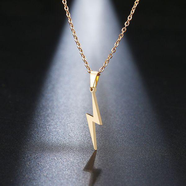 1d49bd8e60ea Collar de acero inoxidable Beichong relámpago caliente collares para  mujeres protección colgantes para regalos de novia