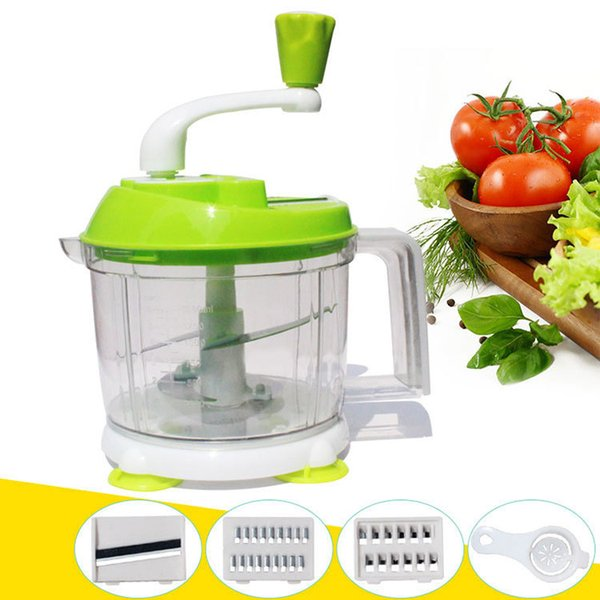 FREE SHIPPING Multifunction High Speedy Garlic Cutter Vegetable Fruit Twist Shredder Manual Meat Grinder hand chopper