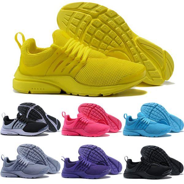 nike air presto 2018 PRESTO BR QS Nefes Sarı Siyah Beyaz Kırmızı Mavi Erkekler Kadınlar Koşu Ayakkabıları Presto Ultra Yürüyüş Koşu Yürüyüş Spor Sneakers Eur 36-45