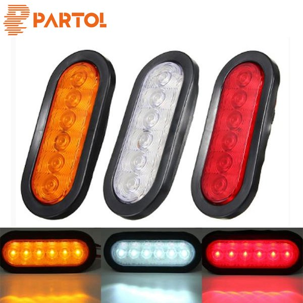 wholesale 2x Multi-function LED Clear Lens For Stop Turn Tail Light Lamp For Truck Trailer Tractor Semi-trailer Dump Special vehicl