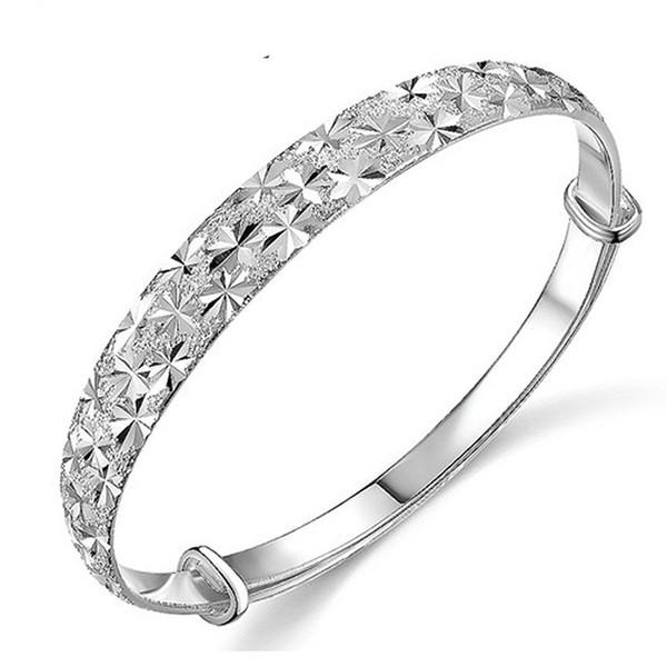 New Design Fashion Starry Bangle Bracelet Lady Vera Silver Bracelet