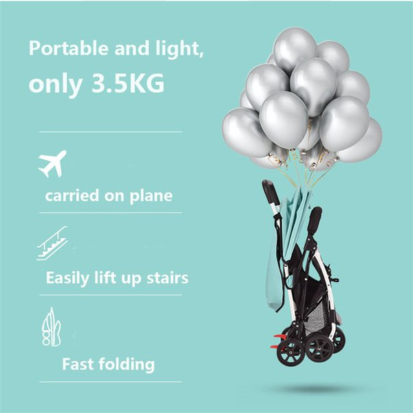 New Baby Stroller Lightweight Baby Pram Pushchair Four Wheels Troller High Landscape carriage With Security Warning Strip