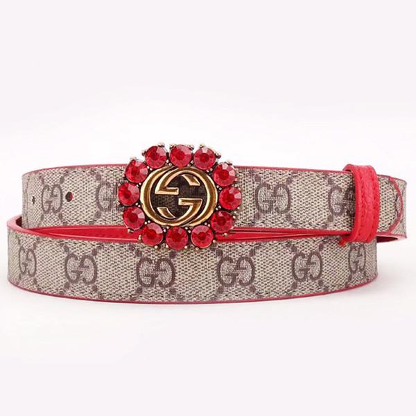 Vintage ceinture en cuir véritable floral ceintures en cuir véritable pour femme top sangle qualité femme pour jeans rouge brun