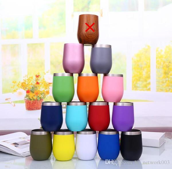 10OZ Creativo Taza de acero inoxidable Gotas de agua Tipo Tazas Forma de huevo Tazas de cerveza Taza de vino más gruesa Práctico para beber
