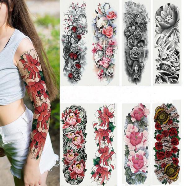 Tatyking Mulheres Homens Unisex À Prova D 'Água Tatuagens Temporárias Adesivos Body Art Tatuagens Falsas Transferência Adesivos Sexy Braço Adesivos Removíveis PH0093