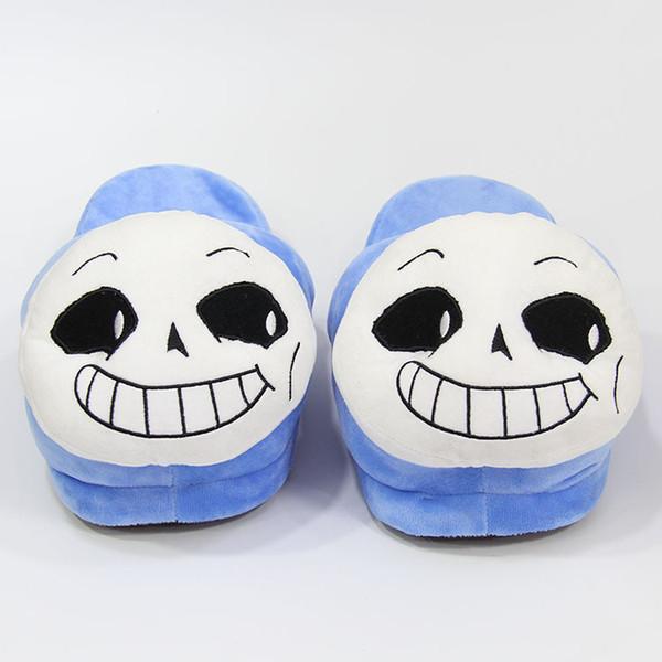Winter Indoor Undertale Sans Slippers Flat Furry Home Cartoon Women emoji Plush Slippers unisex Couple Animal Warm Non-slip Shoes LE385
