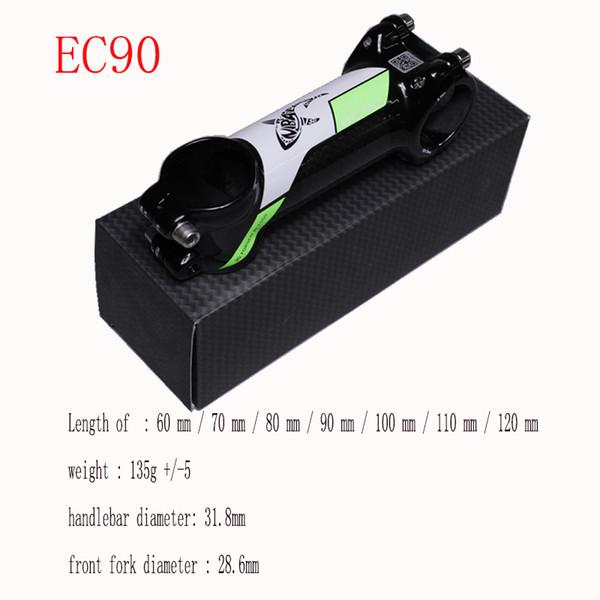 EC90 carbon fiber standpipe 28.6-31.8mm aluminum alloy standpipe mountain bike general purpose truck standpipe stand green