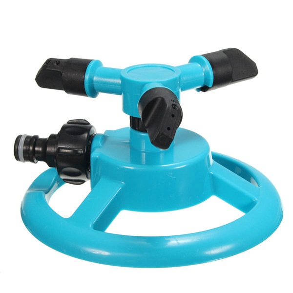 top popular 12 Inch Three Heads Rotation Sprinkler Garden Lawn Watering Irrigation Spraying Nozzle360 degrees rotating help irrigating the whole garden. 2021