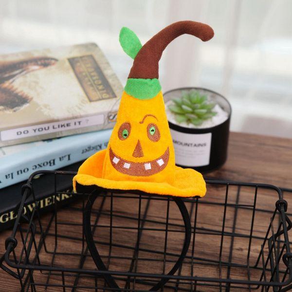 pumpkin witch hat hairband headpiece cartoon children halloween party decorations costume accessories