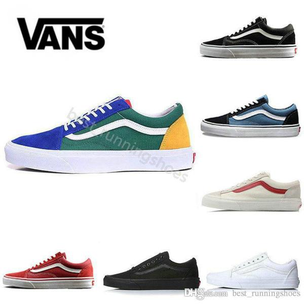 VANS Old Skool Black White Skateboard Classic Canvas Casual Skate Shoes zapatillas de deporte Women Men Vans Sneakers Trainers 36-44