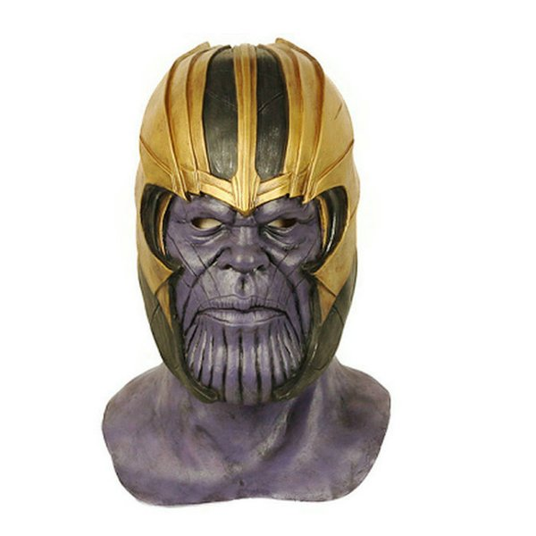 The 4 Endgame Marvel Superhero Thanos Cosplay Masks Natural Latex High-end Mask Full Head Halloween Party Costume Props
