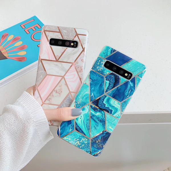Роскошный мраморный чехол для телефона samsung s9 s9 plus s10 s10 plus мягкий чехол для samsung note 9