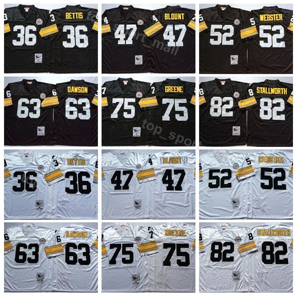55209d432a5 Pittsburgh 36 Jerome Bettis Jersey Steelers Vintage Football 47 Mel Blount  52 Mike Webster 63 Dermontti