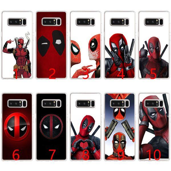 Carcasa de silicona suave de Deadpool Marvel Wade Winston Wilson para Samsung Note 9 8 S7 Edge S8 S9 Plus cubierta