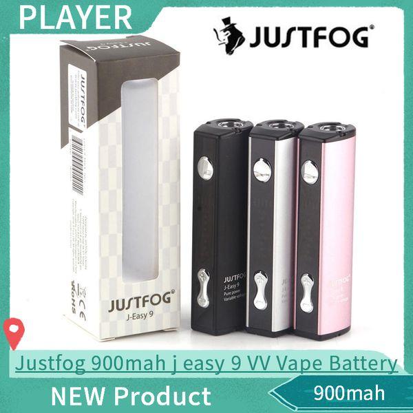 Authentic Justfog 900mah j easy 9 VV Vape Battery Q16 Battery Black Silver Pink Colors 100% Original
