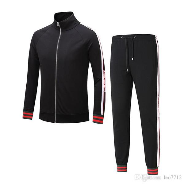 2018 Sudadera Ropa deportiva Marca de ropa para hombre Ropa deportiva para hombre Chaquetas Ropa deportiva Trajes de jogging 3G para hombre G